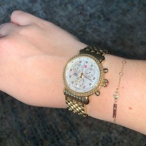 AUTHENTIC Michele Diamond CSX gold watch